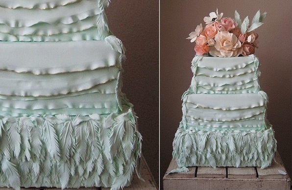 Boho Wedding Cake Cakes With Feathers Magazine