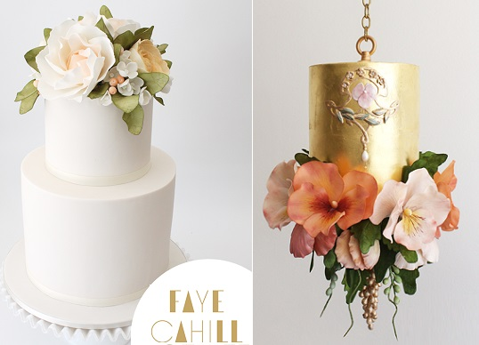 watercolour flowers and cakes by Faye Cahill Cake Design