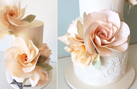 watercolour flowers by Yummy Cupcakes & Cakes