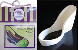 wedge heel mold by Petal Crafts