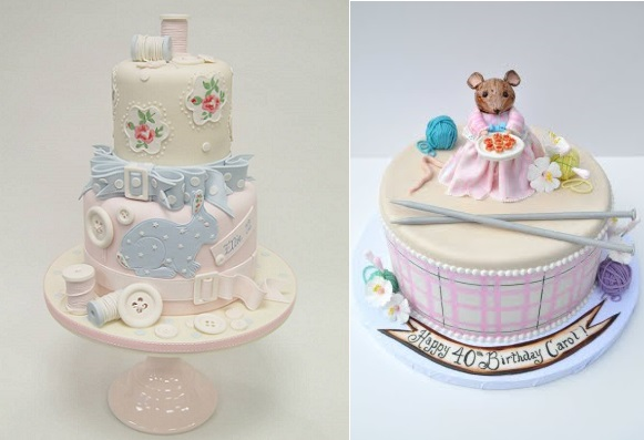 Craft Cakes For Crafters With Knitting And Sewing Details By Emma Jayne Cake Design Left