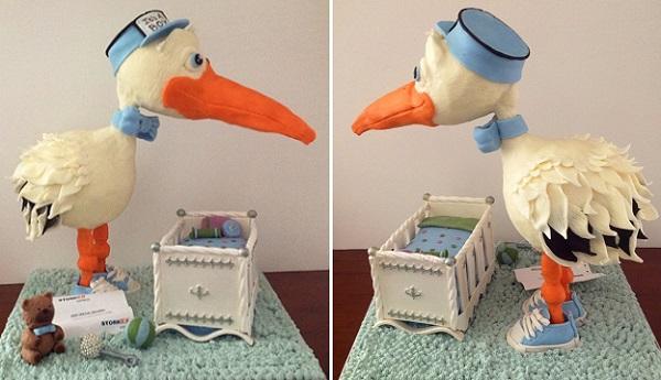 Stork cake by The Hobby Caker.