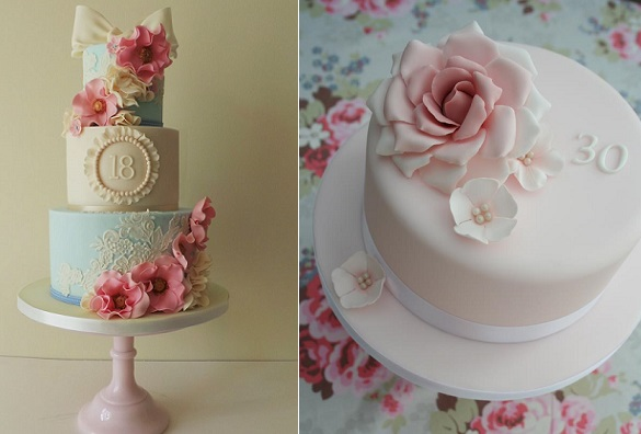 18th Birthday Cake By Amelies Kitchen Left 30th Rachelles Cakes Right