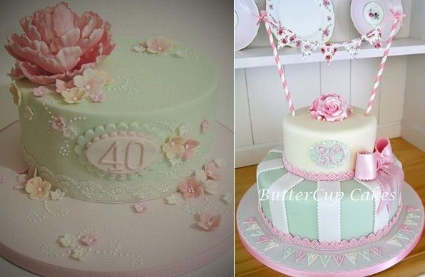 40th Birthday Cake By Shereens Cakes And Bakes Left 30th Buttercup