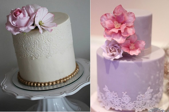 Edible Lace Wedding Cakes