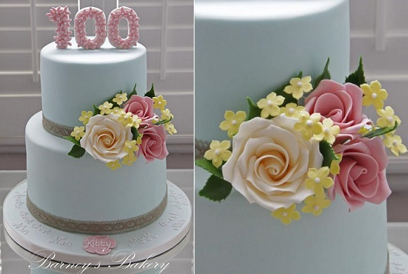Floral number cake topper by Barney's Bakery