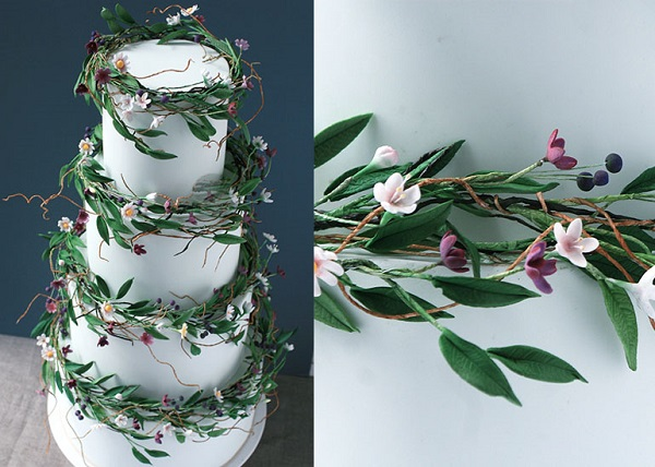 Wildflower Wedding Cake by Wildflower Cakes UK