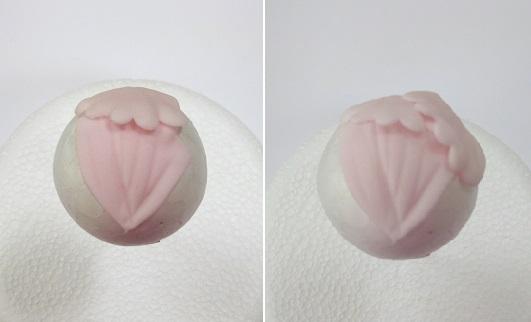 first row of peony petals, Gumpaste Peony Tutorial on Cake Geek