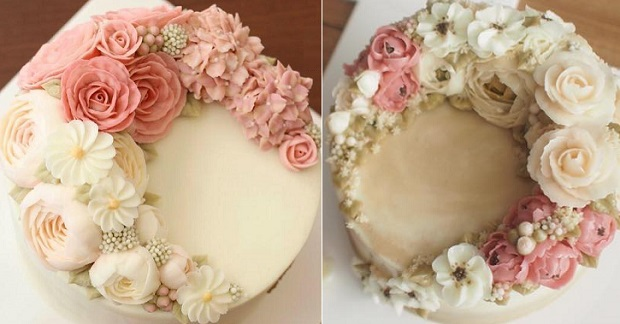 Buttercream flowers flower garden cakes by Better Cake