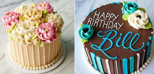 buttercream flowers tutorial and writing in icing