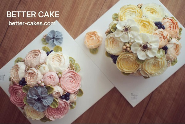 buttercream flower cakes from Better Cake
