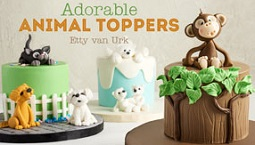 animal cake topper tutorials on Craftsy with Etty Van Urk