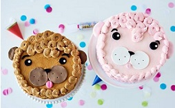buttercream animal face cakes with Lyndsay Sung on Craftsy