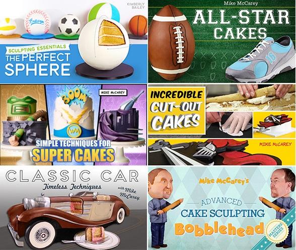 Dad Cakes tutorials on Craftsy