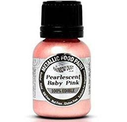 Baby Pink Pearlescent Edible Paint