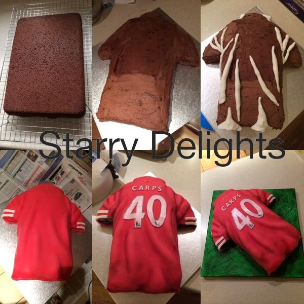 football shirt cake tutorial by Starry Delights Cakes