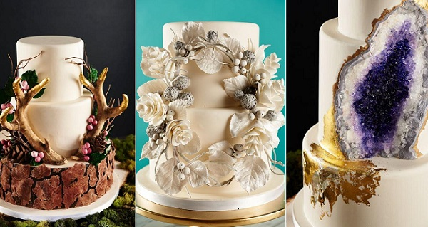geode cake tutorial, wreath cake tutorial and antler wedding cake tutorial by Rachel Teufel