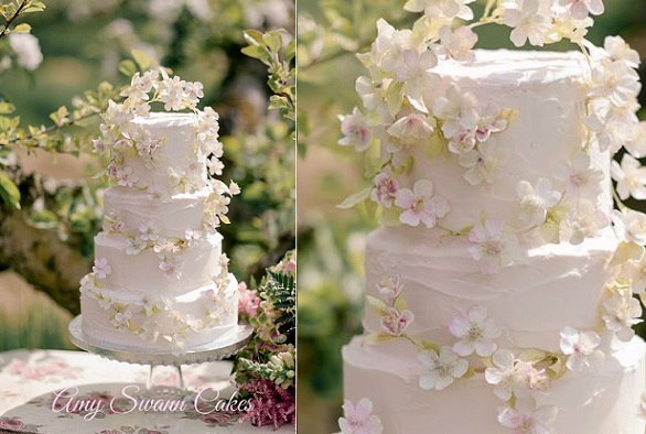 Apple Blossom Wedding Cake Boho Style By Amy Swann Cakes Jo Bradbury Photography