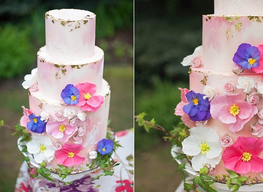 Bohemian wedding cake by Megan Joy Cakes, Sarah Hill Photography