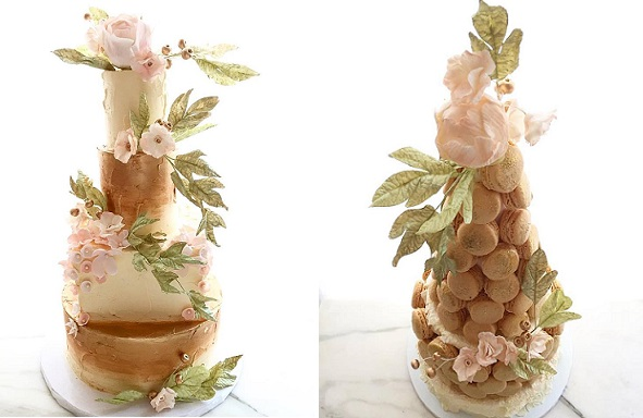 Bohemian wedding cakes by Lael Cakes