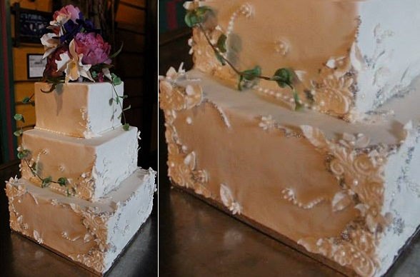 Boho wedding cake by Liv Sandberg Cake Art