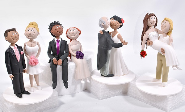 Bride and Groom cake topper tutorials from Yener's Way