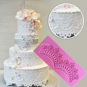 lace border silicone mat