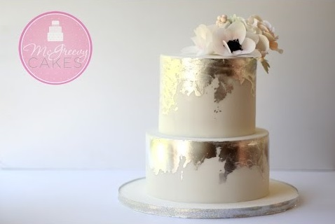 distressed metallic cake tutorial by McGreevy Cakes