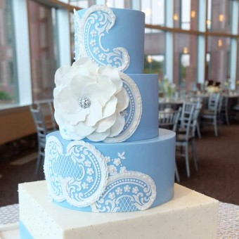 heirloom lace cake stencil