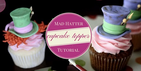 Alice in Wonderland Mad Hatter cupcake topper tutorial by McGreevy Cakes
