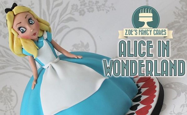 Upside Down Alice In Wonderland Cake Topper