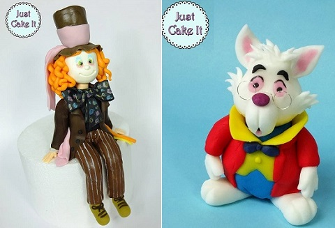 Mad Hatter cake topper tutorial and White Rabbit model tutorial from Alice in Wonderland