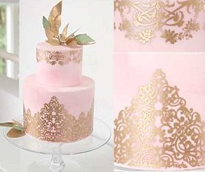 Romantique cake stencil by Evil Cake Genius