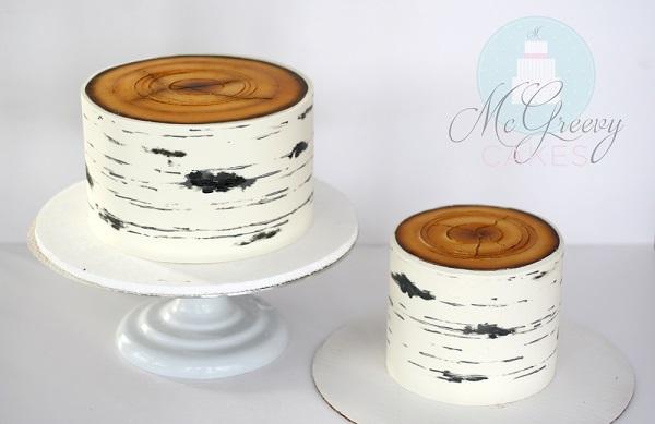 Birch Tree Wedding Cake Tutorial