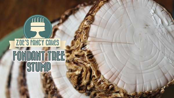 tree stump cake tutorial by Zoe's Fancy Cakes