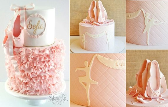 Ballet Cakes by Caking It Up left, Have Some Sugar right