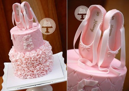 Ballet shoes cake by The Royal Bakery