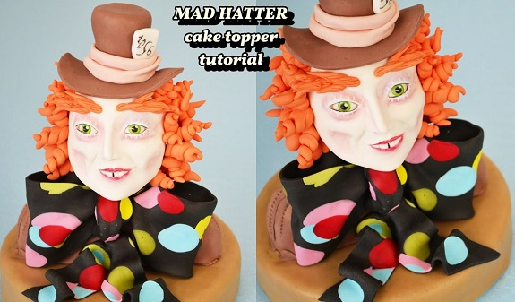 Mad Hatter cake topper tutorial by Clara Altomare