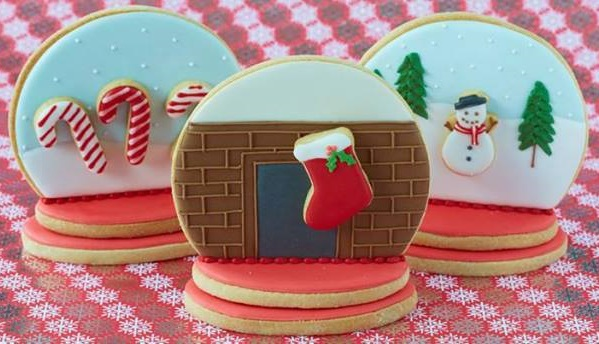 Christmas cookies by The Wildflower Bakery