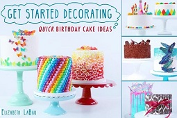 Easy Birthday Cake tutorials from Sugar Hero on Craftsy
