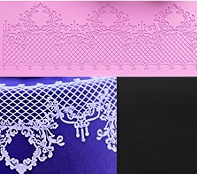 lace mat cake decorating