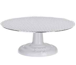 12 inch cast iron base revolving cake decorating stand