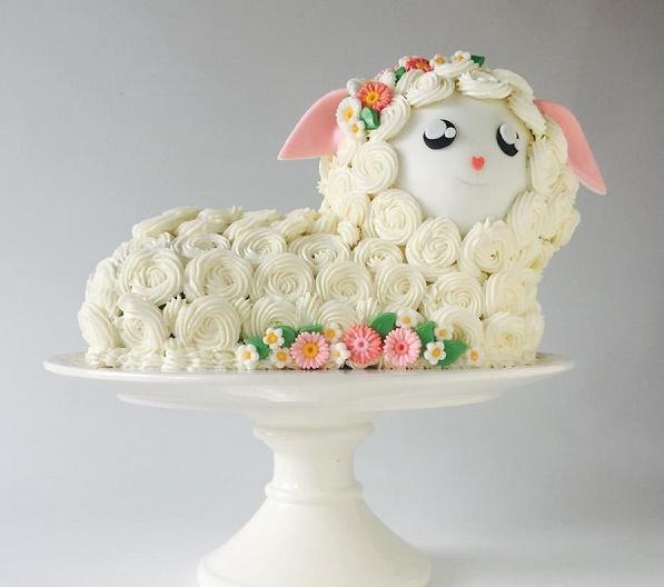 Baby lamb cake by Olga Zaytseva