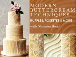 Buttercream piping techniques tutorial, buttercream frills, ruffles and rosettes tutorial with Shannon Bond on Craftsy