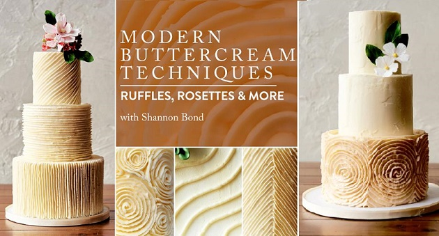 Buttercream Wedding Cakes Tutorials by Shannon Bond on Craftsy