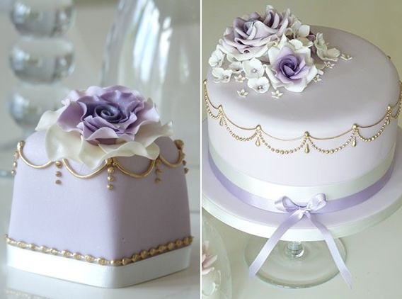 Lilac and lavender cake by Rachelle's Bespoke Cakes