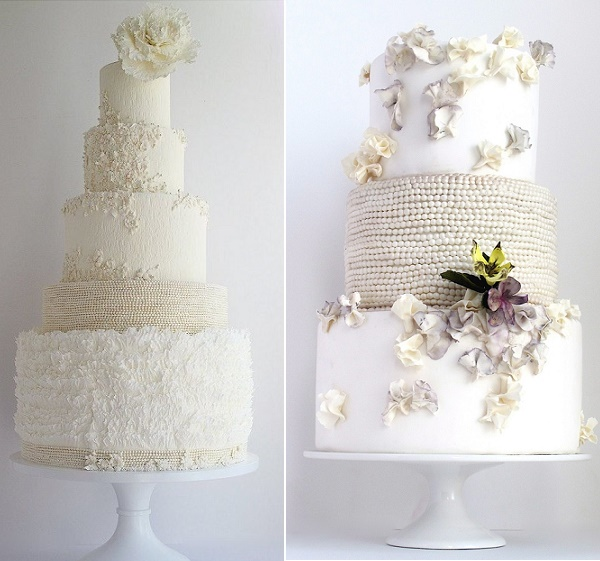 Pearl tiered wedding cakes by Maggie Austin Cake