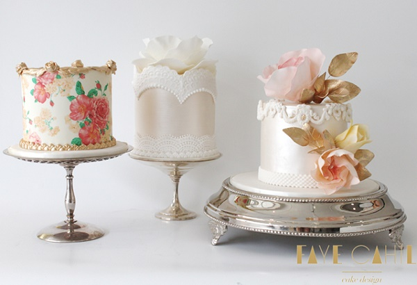 Victorian High Tea inspired cake collection by Faye Cahill Cakes
