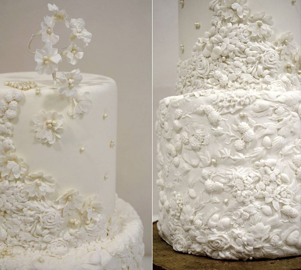 Bas relief wedding cake by Ponona Cakes