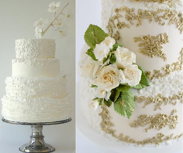 Bas relief wedding cakes by Maggie Austin Cake